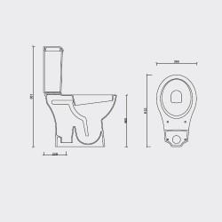 Vas de toaleta Compac + Capac soft